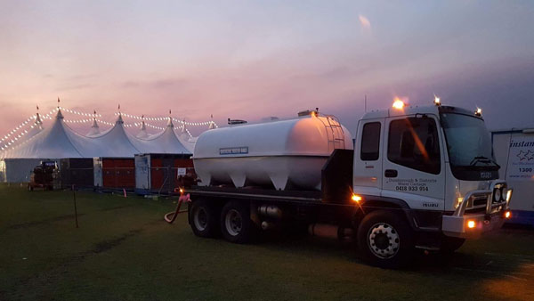 dunsborough water delivery events tank hire